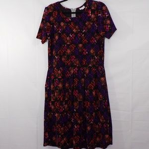 LuLaRoe Amelia Floral Print Dress, Sz 2XL,